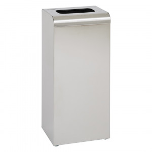 Waste Bin 47L With Cover Stainless Steel Brushed Finish