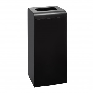Waste Bin 47L With Cover Metal Black