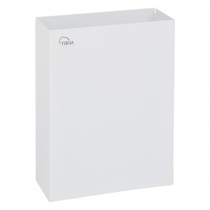 Paper Towels Waste Bin 25L Metal White