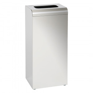 Waste Bin 47L With Cover Stainless Steel Mirror Finish