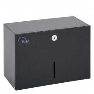 V-Fold Paper Towels Dispenser Metal Black