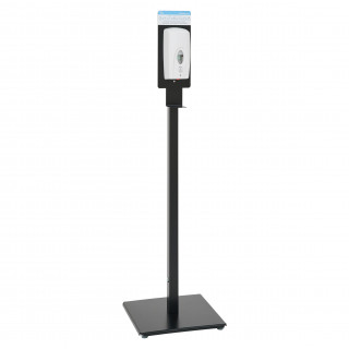 Black Hand Sanitiser Stand With Automatic Dispenser