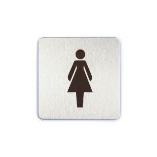Female / Ladies Toilet Self-Stick Door Sign