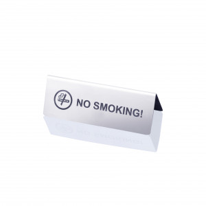 NO SMOKING table sign